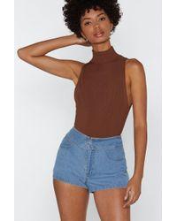 """Nasty Gal - """"we Fold Denim Shorts"""" - Lyst"""