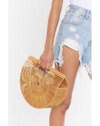 Nasty Gal - Want Just Hold On Wooden Clutch Bag - Lyst