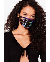 Nasty Gal Like A Work Of Art Fashion Face Mask - Black