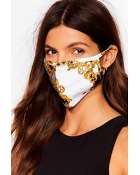 Nasty Gal Get Outta My Face Brocade Fashion Face Mask - Black
