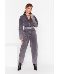 """Nasty Gal """"wash Who You're Talkin' To Denim Boilersuit"""" - Multicolour"""