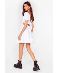 Nasty Gal Ruffle Their Feathers Crop Top And Skirt Set - White