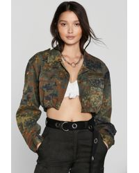 Nasty Gal - After Party Vintage On Duty Camo Jacket - Lyst