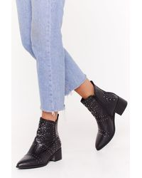 58975b300c0 Jeffrey Campbell Gazer Leather Boot in Black - Lyst
