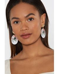 "Nasty Gal - ""pretty As A Picture Floral Drop Earrings"" - Lyst"