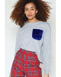 Nasty Gal   Fur-give And Fur-get Faux Fur Sweatshirt   Lyst