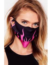 Nasty Gal Masque Facial Fashion À Motifs Flammes - Rose