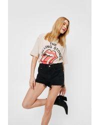 Nasty Gal Distressed High Waisted Denim Shorts - Black
