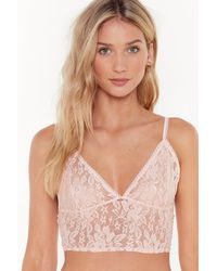 "Nasty Gal ""soft Spot Lace Bralet"" - Multicolour"