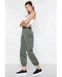 "Nasty Gal ""survivor Utility Pants"" - Green"