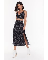 "Nasty Gal ""who Owns My Heart Midi Skirt And Bralette Set"" - Black"