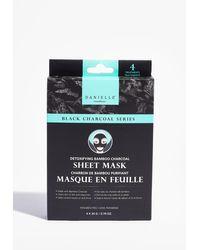 Nasty Gal Masques tissu au charbon de bambou purifiant x4 danielle - Noir