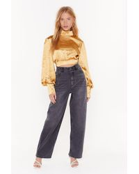 """Nasty Gal """"high-waisted And Oversized Wide-leg Jeans"""" - Black"""