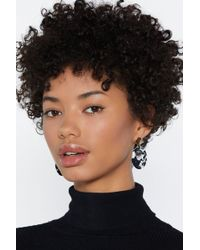 Nasty Gal - Cow You Doing Open Circle Earrings - Lyst
