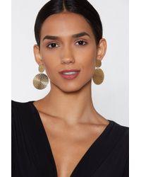 "Nasty Gal - ""bead The Way Circle Earrings"" - Lyst"