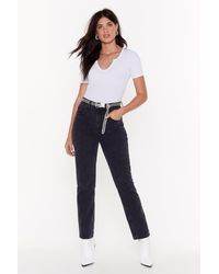 Nasty Gal Get Straight To It High-waisted Denim Jeans - Blue