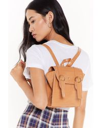 """Nasty Gal """"want Around The Croc Faux Leather Backpack"""" - Multicolor"""