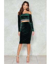 Nasty Gal - Feel For You Velvet Midi Skirt - Lyst