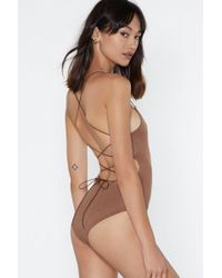 Nasty Gal - Back In Business Strappy Bodysuit - Lyst