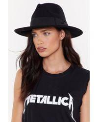 "Nasty Gal - ""two-tone It Down Wool Fedora Hat"" - Lyst"