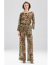 Natori Couture Animal Burnout Pants - Black