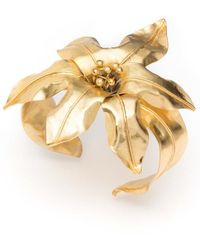 Natori Brass Floral Bracelet - Metallic