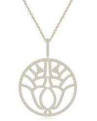 Natori Kamon Diamond Pendant Necklace - Metallic