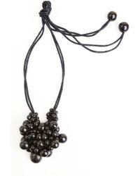 Natori - Josie Horn Cluster Long Necklace - Lyst