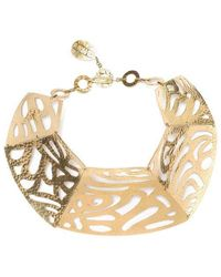 Natori Gold Cut-out Necklace - Metallic
