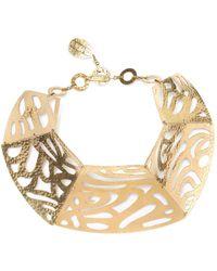 Natori - Josie Gold Cut-out Necklace - Lyst