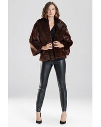 Natori Leopard Faux Fur Jacket - Purple