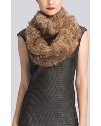 Natori - Josie Knitted Fur Scarf - Lyst
