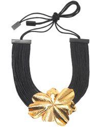 Natori - Josie Metal Floral Necklace - Lyst