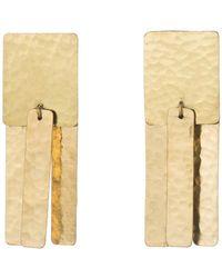 Natori | Josie Hammered Brass Fringe Earrings | Lyst