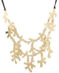 Natori | Josie Hammered Brass Necklace | Lyst