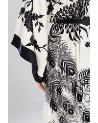 Josie Natori Couture Black Peacock Robe