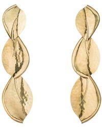 Natori - Josie Brass Leaf Trio Earrings - Lyst