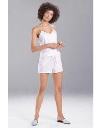 Natori Feathers Satin Elements Shorts - White