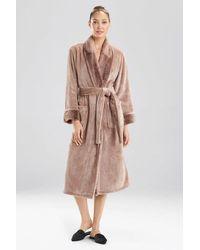 N Natori Ombre Stripe Robe - Natural