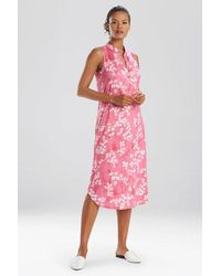 N Natori Cherry Blossom Gown - Pink
