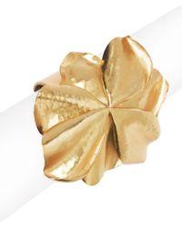 Natori - Josie Metal Floral Cuff - Lyst