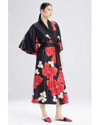 Lyst - Adriana Iglesias Anna Reversible Tropical Print Stretch Silk ... d44554160
