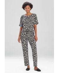 N Natori Ombre Leopard Pants - Black
