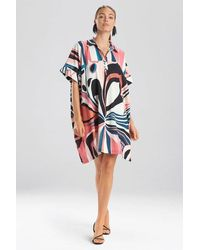 Natori Papillon Caftan Dress - Pink