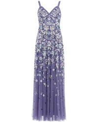 Needle & Thread Wildflower Sequin Gown - Purple