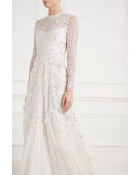 Needle & Thread - Tiered Gloss Gown - Lyst
