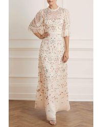 Needle & Thread Regency Garden Ballerina Dress - Natural