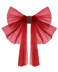 Needle & Thread Bridal Tulle Hair Bow - Red