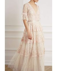 Needle & Thread Pennyflower Gown - Pink