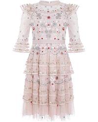 Needle & Thread Eden Dress - Pink